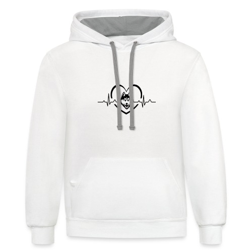 Love every beat for Husky T-Shirt - Unisex Contrast Hoodie