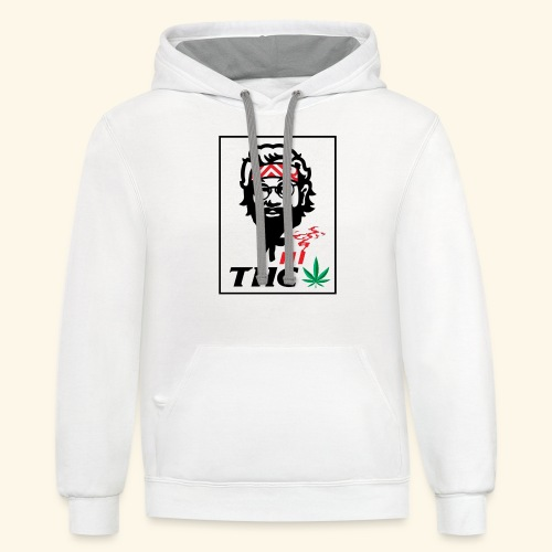 THC MEN - THC SHIRT - FUNNY - Contrast Hoodie