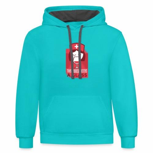 healthcare tshirt 003 HQ 01 - Contrast Hoodie