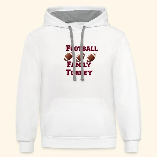 FOOTBALL FAMILY TURKEY TEE - Contrast Hoodie