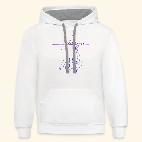 I Love you To The Stars Tee - Contrast Hoodie