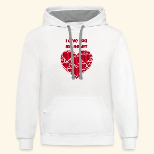 I Give You My Heart valentine - Contrast Hoodie