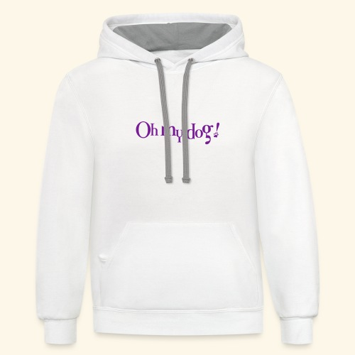 Oh My Dog Design - Contrast Hoodie