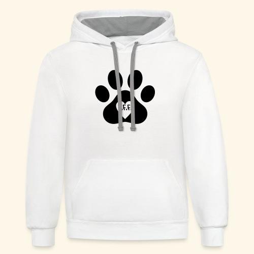 Dog Paw B.F.F. Design - Contrast Hoodie