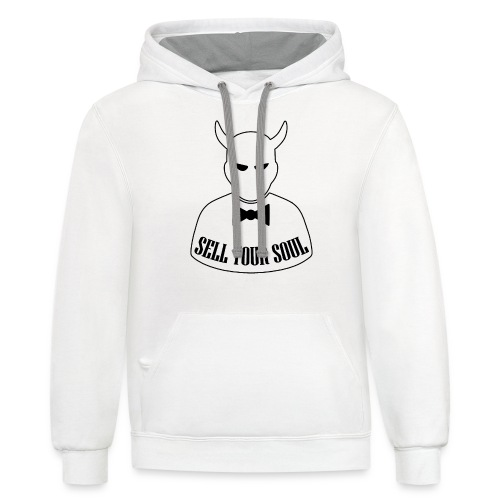 Sell Your Soul - Unisex Contrast Hoodie
