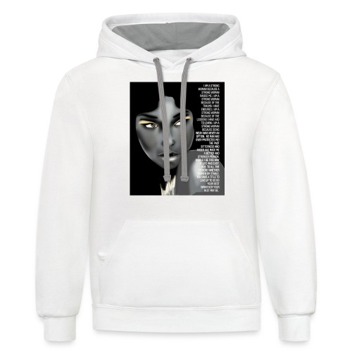 Strong woman - Unisex Contrast Hoodie