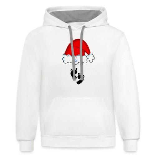 Christmas Pregnancy Shirt - Unisex Contrast Hoodie