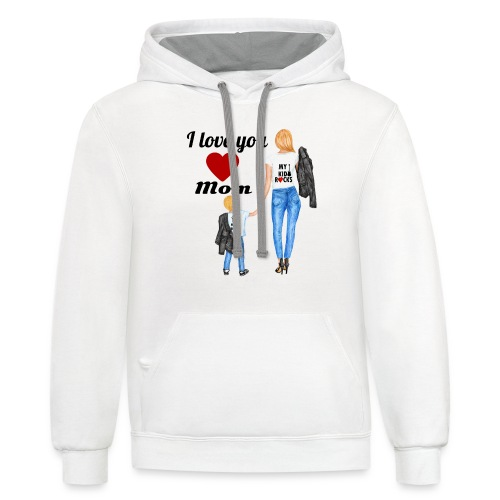 Mother's day gift from daughter, Mother's Day Gift - Unisex Contrast Hoodie