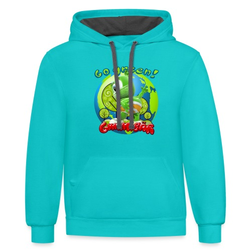 Gummibär Go Green Earth Day Earth - Contrast Hoodie