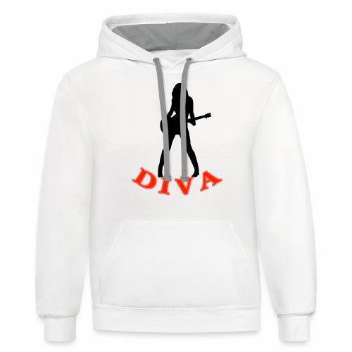 Rock Star Diva - Unisex Contrast Hoodie