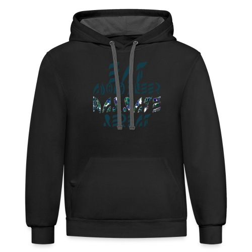Eat Sleep Narrate Repeat - Contrast Hoodie