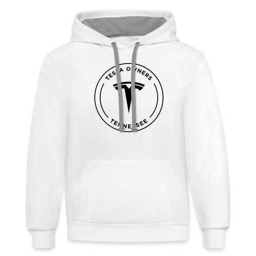 Tesla Owners Logo Black - Contrast Hoodie