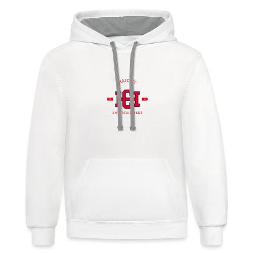 sports logo haicity - Unisex Contrast Hoodie