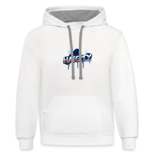 graffiti logo maker featuring bubbly graphics 2804 - Unisex Contrast Hoodie
