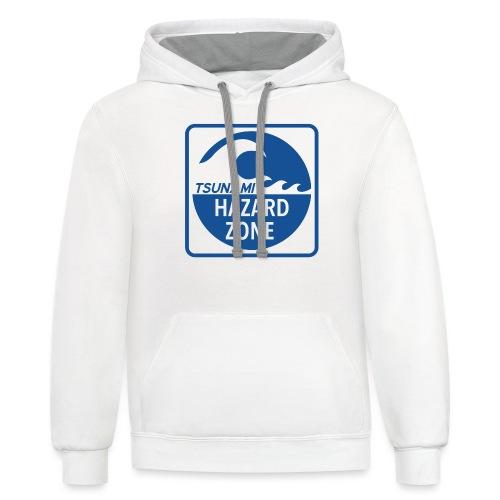 Tsunami Hazard Zone - Unisex Contrast Hoodie