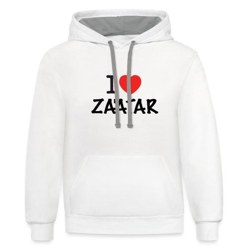 i love zaatar 1 - Unisex Contrast Hoodie