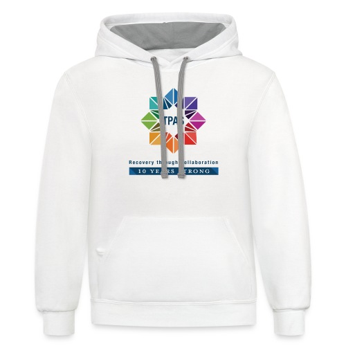 TPAS Color Stacked 10TH 5 13 TPAS OPTION A - Unisex Contrast Hoodie
