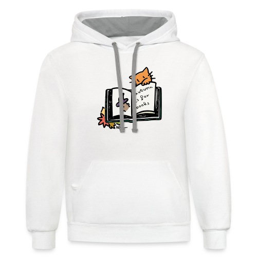 Autumn is for Books - Unisex Contrast Hoodie