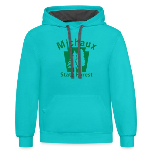 Michaux State Forest Keystone (w/trees) - Contrast Hoodie