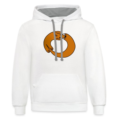 Fox Curled Up in a Circle - Contrast Hoodie