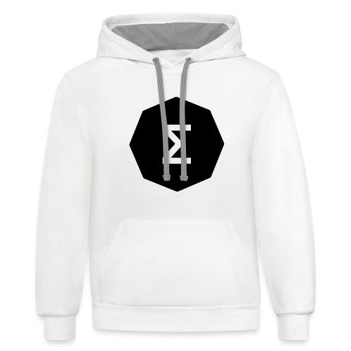Ergo Symbol filled - Unisex Contrast Hoodie