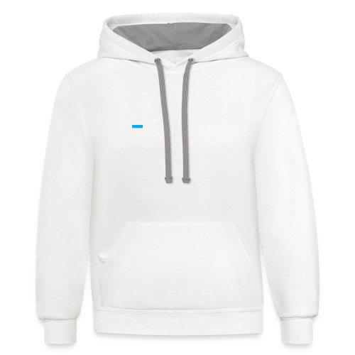 zimsoft white cropped - Contrast Hoodie