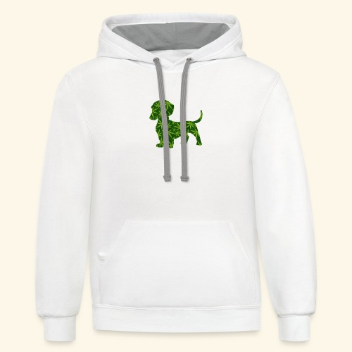 PUFFY DOG - PRESENT FOR SMOKING DOGLOVER - Contrast Hoodie