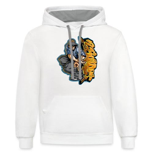 Cholo Hands by RollinLow - Contrast Hoodie