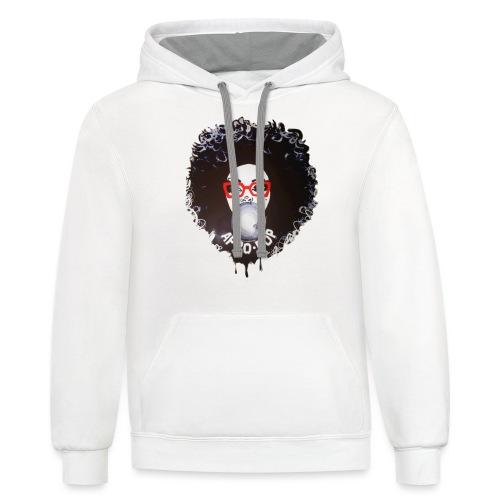 Afro pop_ - Contrast Hoodie