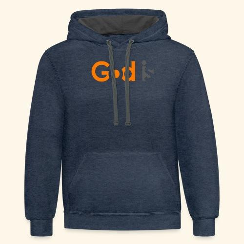 GOD IS #6 - Contrast Hoodie