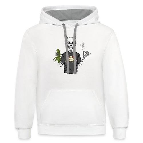 Wyt Devil's Lettuce - Devil Skelton - Unisex Contrast Hoodie