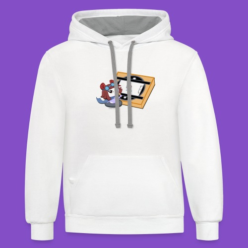 Zyrin with Animation Board - Unisex Contrast Hoodie