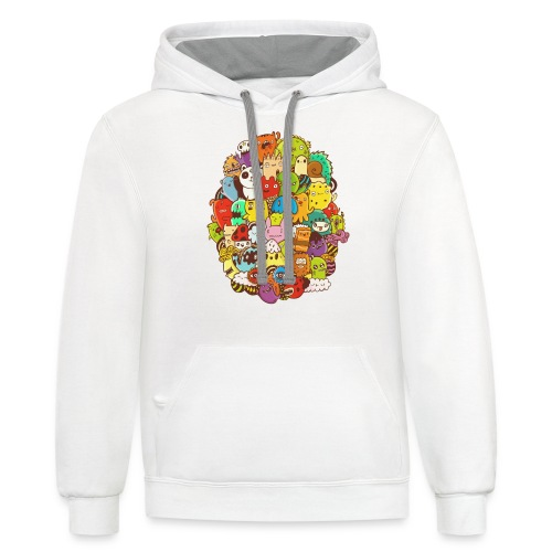 Doodle for a poodle - Contrast Hoodie