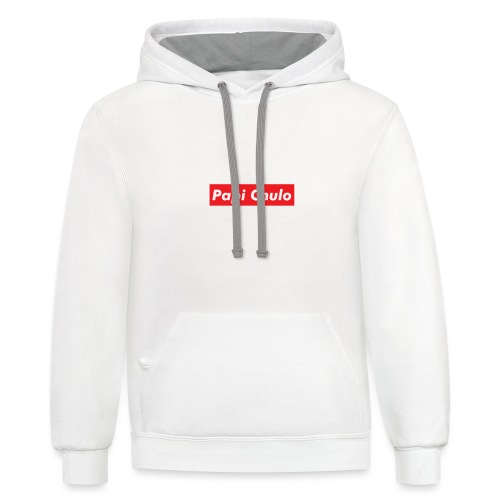 'Papi Chulo' Coca Cola Inspired Typography - Unisex Contrast Hoodie
