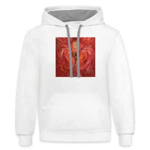 Heartangel of self-worthiness - Contrast Hoodie