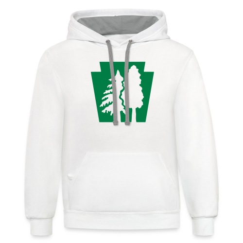 PA Keystone w/trees - Unisex Contrast Hoodie