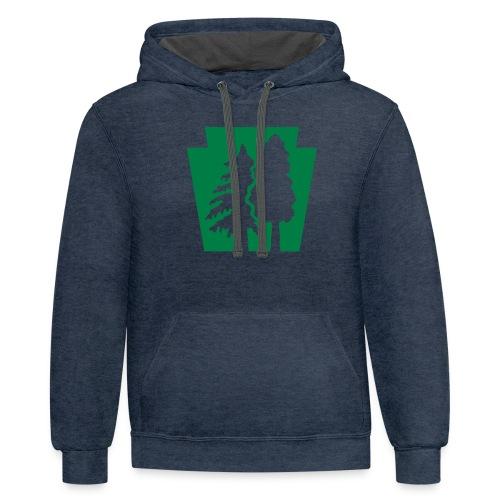 PA Keystone w/trees - Contrast Hoodie