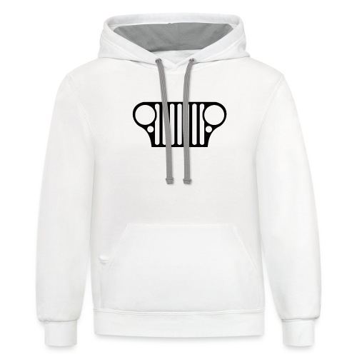 jeep willys grill - Unisex Contrast Hoodie