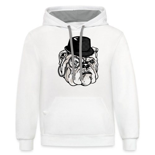 lifesabitch.png - Unisex Contrast Hoodie