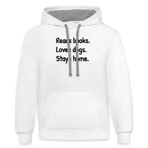 Loves Dogs - Unisex Contrast Hoodie