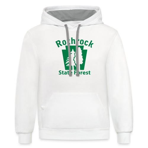 Rothrock State Forest Keystone (w/trees) - Contrast Hoodie