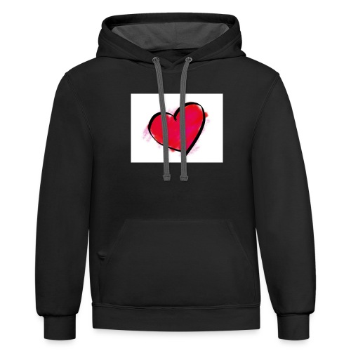 heart 192957 960 720 - Contrast Hoodie