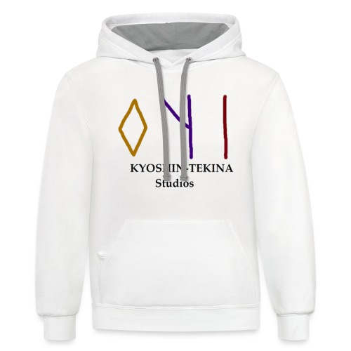 Kyoshin-Tekina Studios logo (black test) - Contrast Hoodie