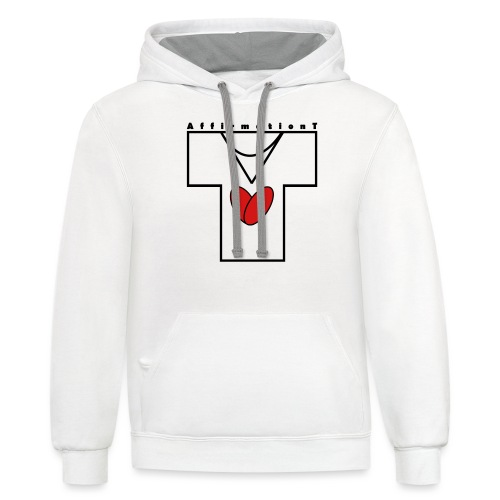 AffirmationT logo - Unisex Contrast Hoodie