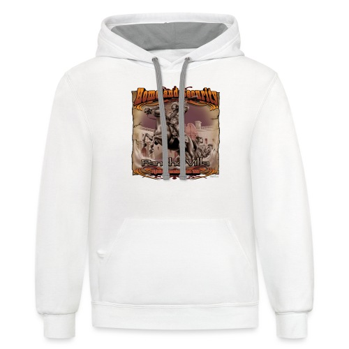 Homeland Security by RollinLow - Unisex Contrast Hoodie