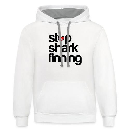 Stop Shark Finning - Unisex Contrast Hoodie