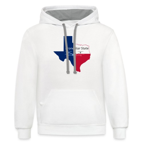 Drone Star State - Unisex Contrast Hoodie