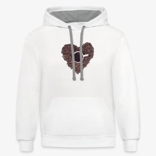 I Heart Coffee Black/White Mug - Contrast Hoodie
