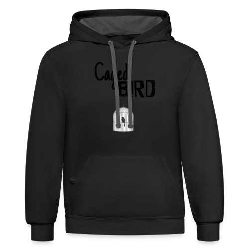 Caged Bird Abstract Design - Contrast Hoodie