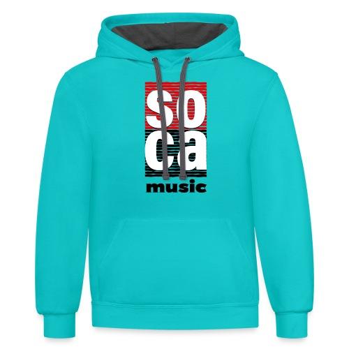 Soca music - Contrast Hoodie